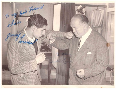Jimmy Toweel and Ted 'Kid' Lewis autograph