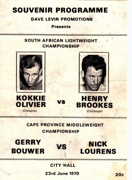 KOKKIE OLIVIER VS HENRY BROOKS