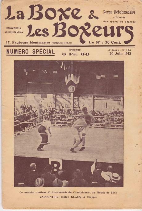 La Boxe & les Boxeurs 26 June 1912