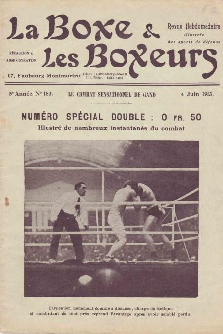 La Boxe & les Boxeurs 4 June 1913