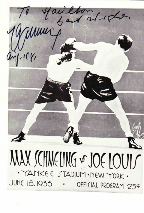 Max Schmeling autograph - African Ring