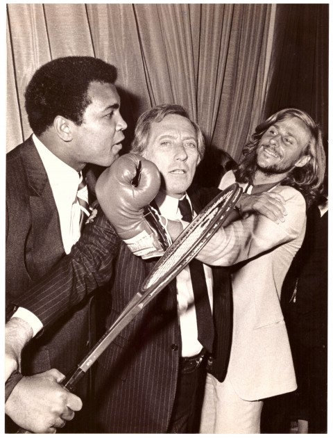 Muhammad Ali, Singer Andy Williams and Tennis Star Bjorn Borg - African Ring