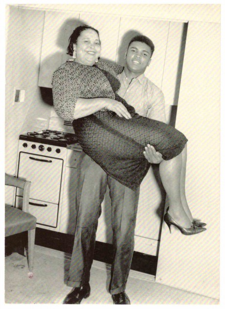 Muhammad Ali and his motherOdessa Clay Post card