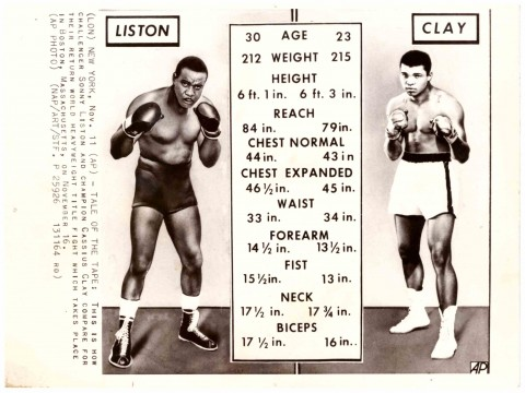 Sonny Listen vs Muhammad Ali tale of the tape - African Ring