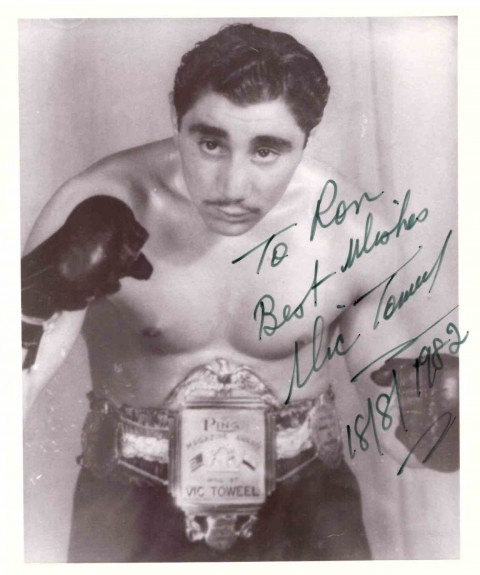 Vic Toweel inscribed to Ron - African Ring