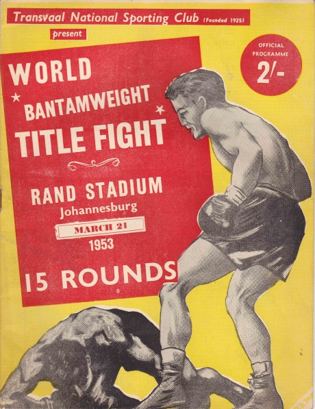 Vic Toweel vs Jimmy Carruthers Return Bout Program