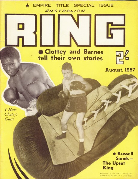 Australian Ring Digest August 1957 George Barnes vs Attu  Clottey