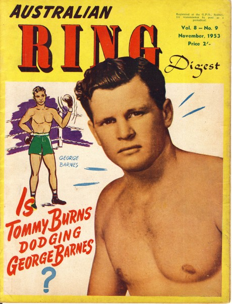 Australian Ring Digest November 1953 Tommy Burns – George Barnes