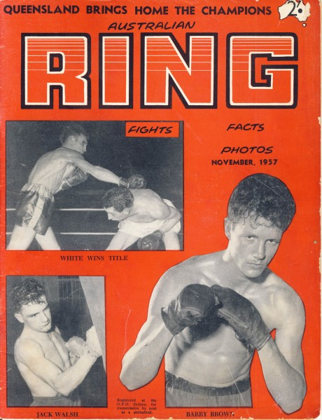 Australian Ring Digest November 1957 Jack Walsh, Barry Brown