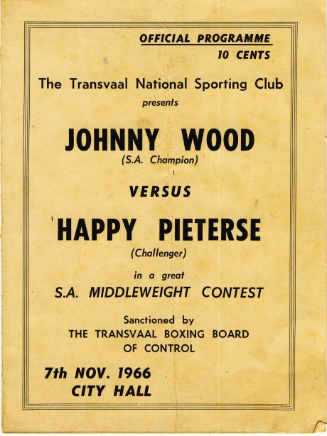 Johnny Wood vs Happy Pieterse 1966
