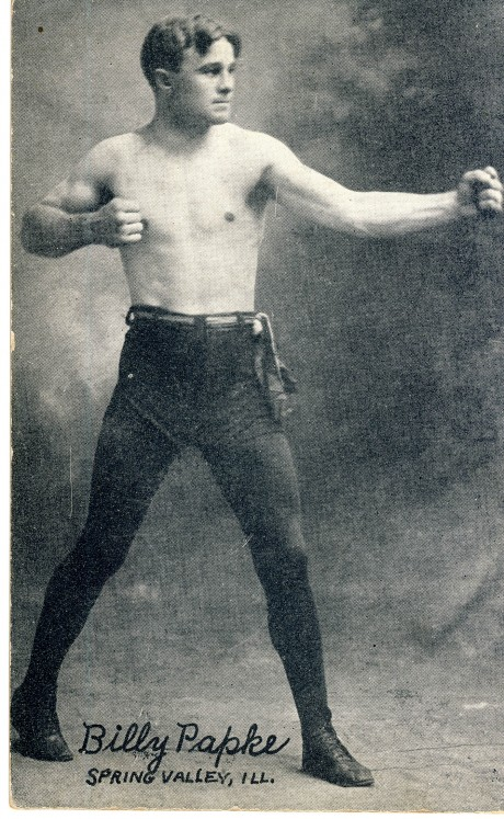 Billy Papke boxed 1906-1919 post card fought the best