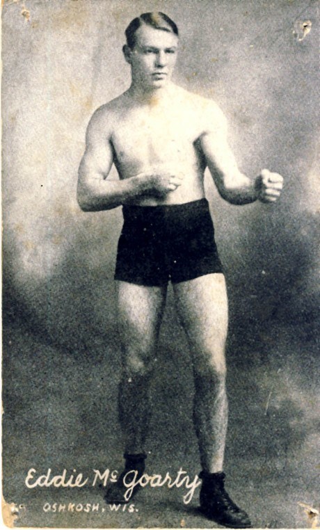 Eddie McGoorty boxed 1900-1922 fights 133 vintage post card