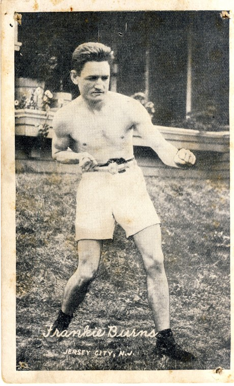 Frankie Burns boxed 1908-1921 fights 186 post card