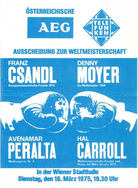 Franz Csandl vs Denny Moyer 1975