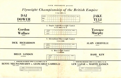 Jake Tuli vs Dai Dower 1955 under card