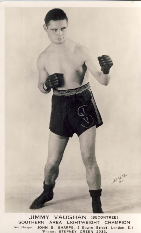 Jimmy Vaughan boxed 1931-1945 post card