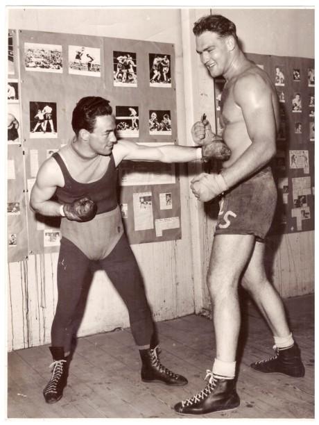 Lou Strydom SA Heavyweight Champion and Tony Cardinale