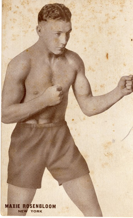 Maxie Rosenbloom boxed  1923-1939 fights 298 post card