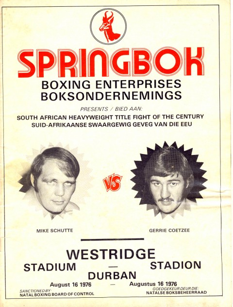 Mike Schutte vs Gerrie Coetzee - African Ring