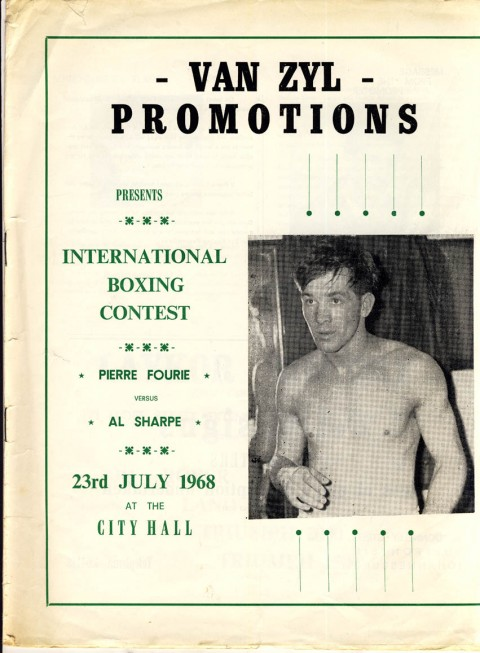Pierre Fourie vs Al Sharpe - African Ring