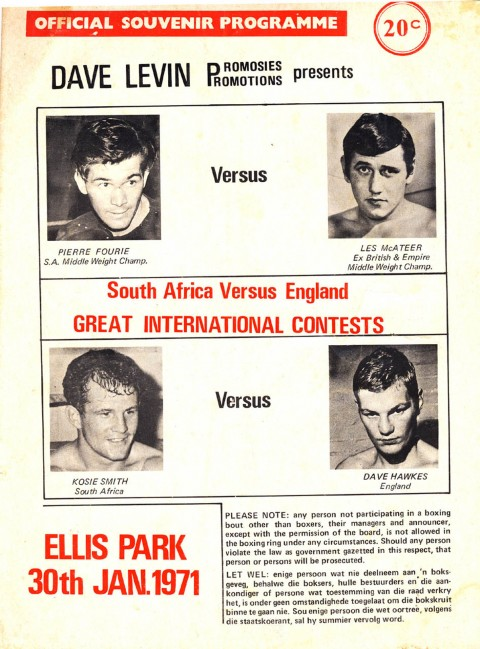 Pierre Fourie vs Les McAteer 1971 - African Ring