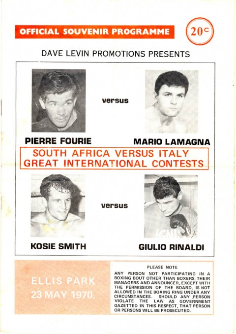Pierre Fourie vs Mario Lamanga - African Ring