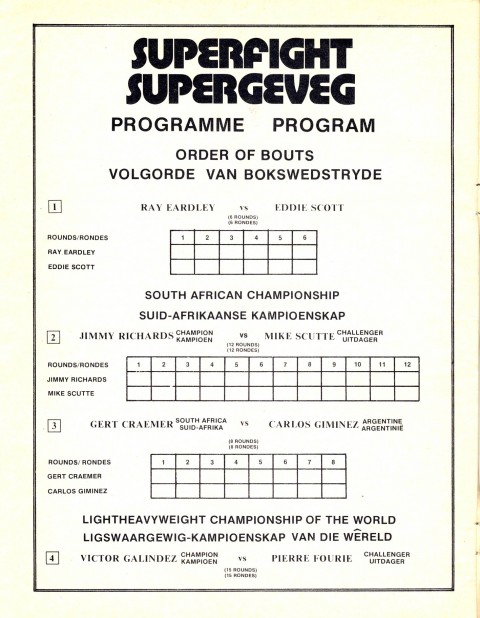 Pierre Fourie vs Victor Galendez - African Ring