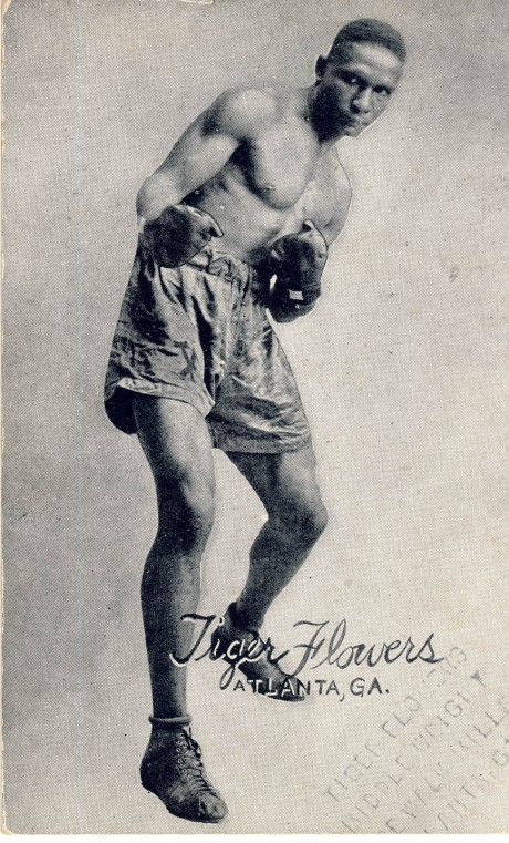 Tiger Flowers boxed 1918-1927 fights 159 post card