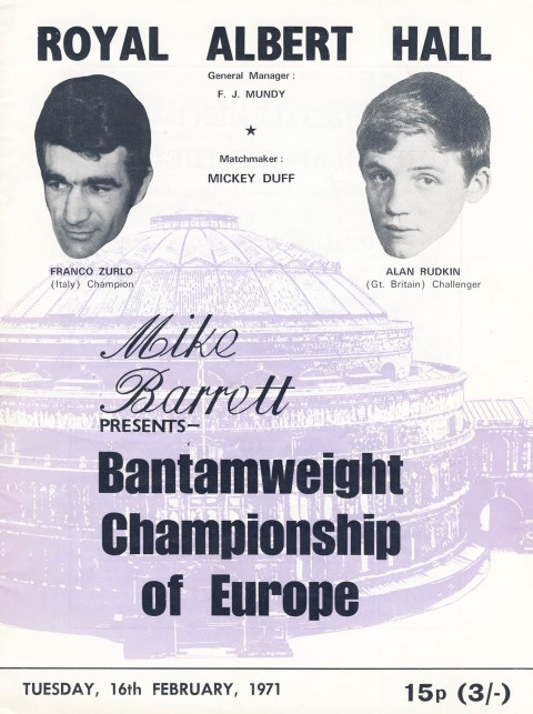Alan Rudkin vs Franco Zurlo - African Ring