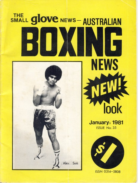 Australian Boxing News – The Small Glove January 1981 – Alex Sua