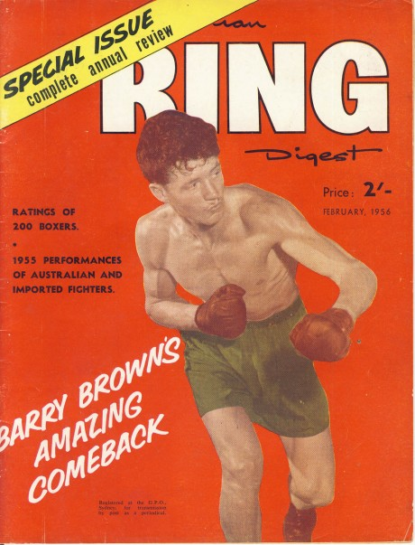 Australian Ring Digest February1956 – Barry Brown