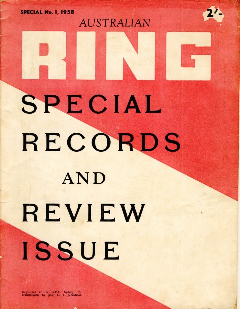 Australian Ring Special 1958 - African Ring