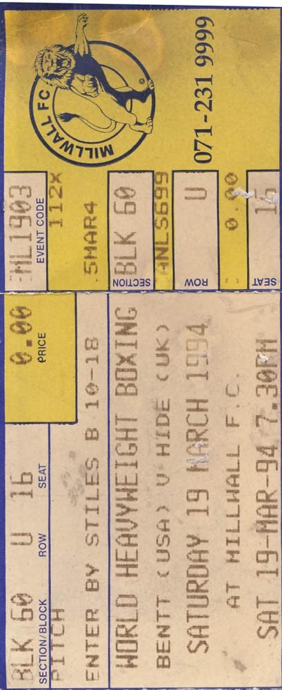 Bentt vs Hide 1994