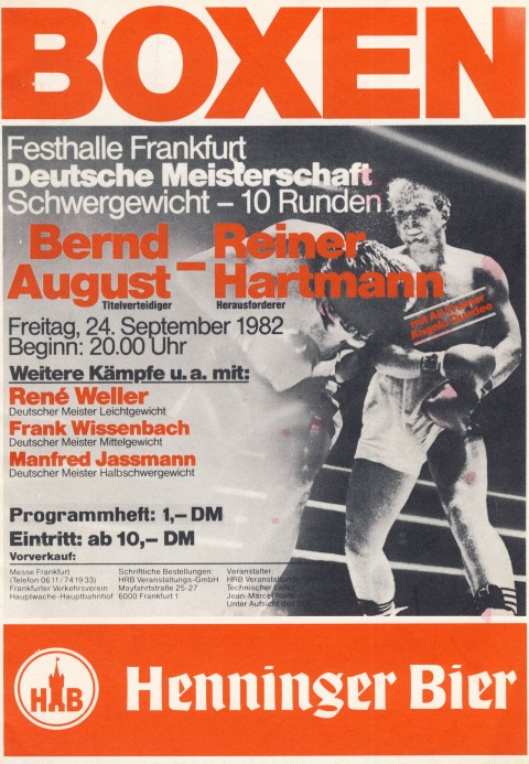 Bernd August vs Reiner Hartmann - African Ring