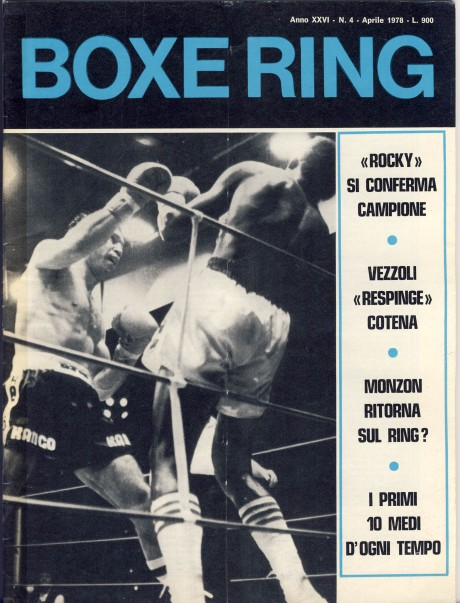 Boxe Ring April 1978 Mattioli v Obed