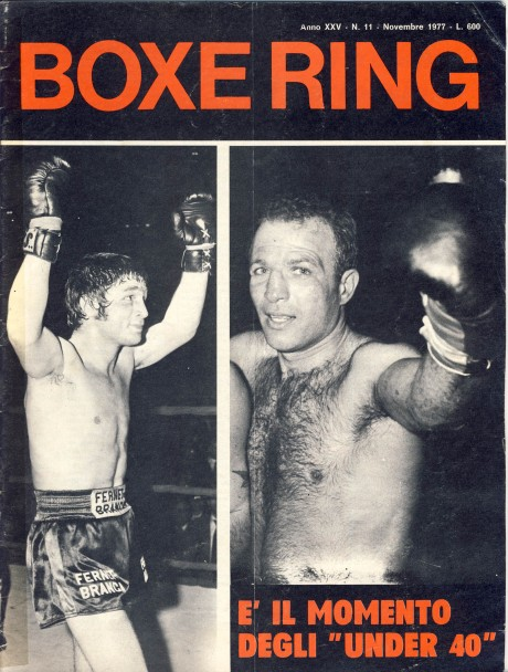 Boxe Ring November 1977 Bruno Arcari and Sandro Mazzinghi