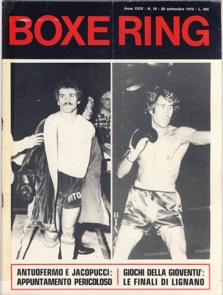 Boxe Ring September 1976 Vito Antuofermo