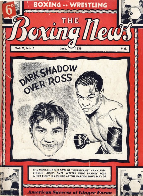 Boxing News (The) June 1938 – Barney Ross vs Henry Armstrong