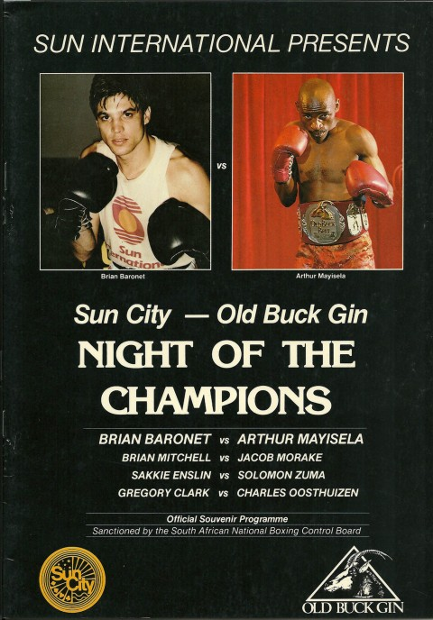 Brian Baronet vs Arthur Mayisela - African Ring