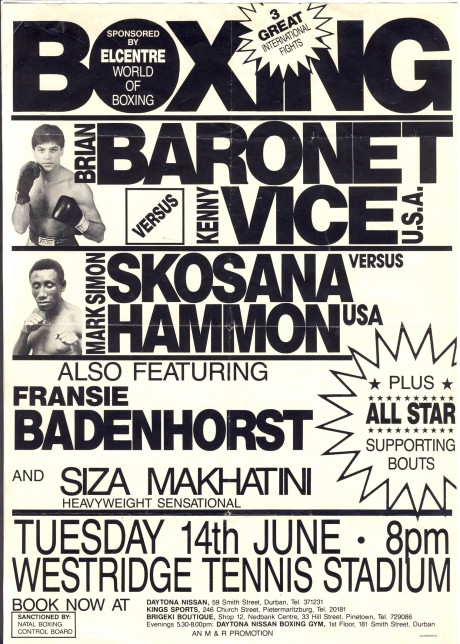 Brian Baronet vs Kenny Vice flyer