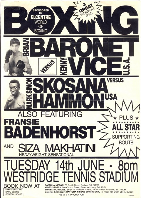 Brian Baronet vs Kenny Vice Flyer - African Ring