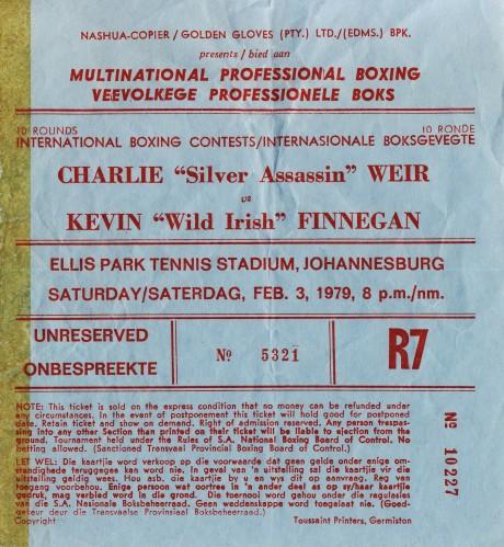 Charlie Weir vs Kevin Finnegan 1979