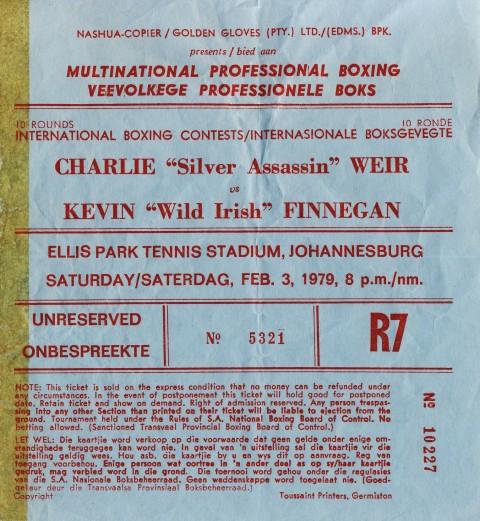 Charlie Weir vs Kevin Finnegan - African Ring