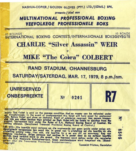 Charlie Weir vs Mike Colbert - African Ring