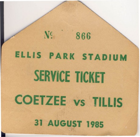 Coetzee vs Tillis service ticket