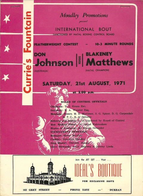 Don Johnson vs Blakeney Matthews - African Ring