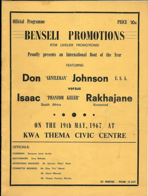 Don Johnson vs Isaac Rakhajane - African Ring