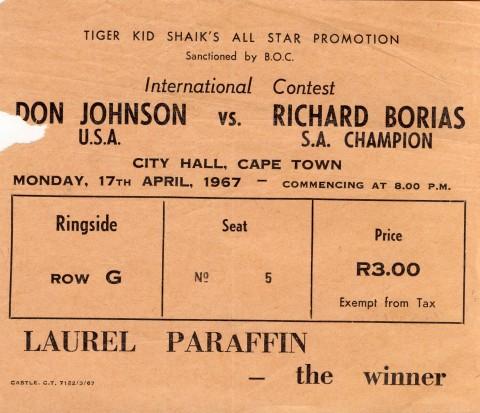 Don Jhnson vs Richard Borias - African Ring