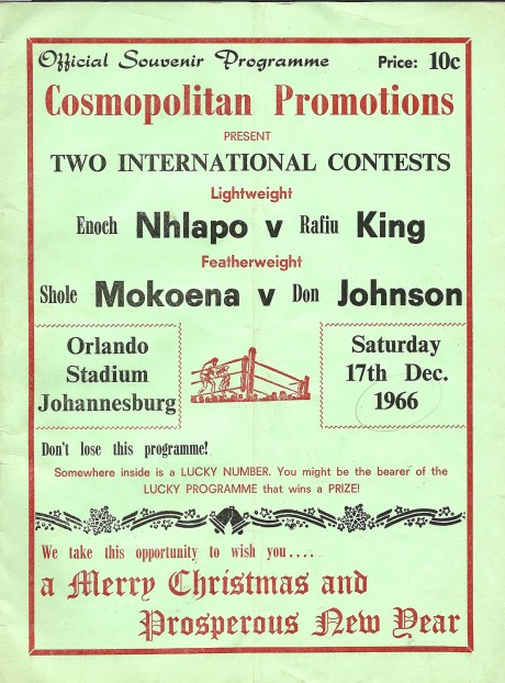 Don Johnson vs Shole Mokoena 1966