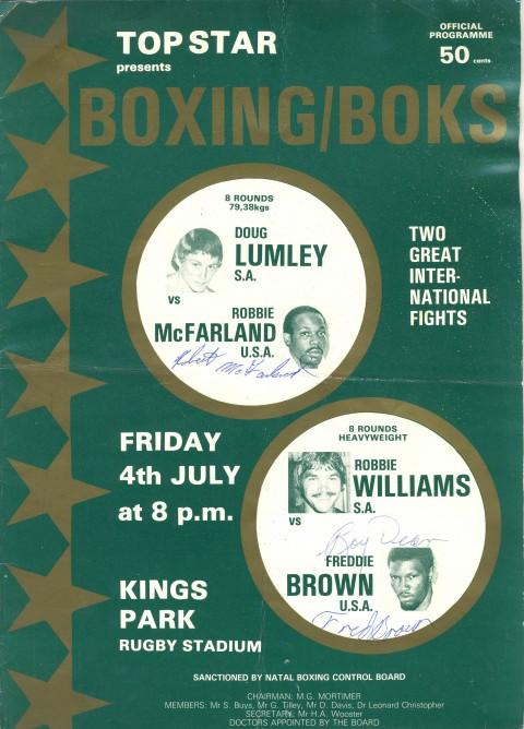 Doug Lumney vs Robboie Mcfarland - African Ring
